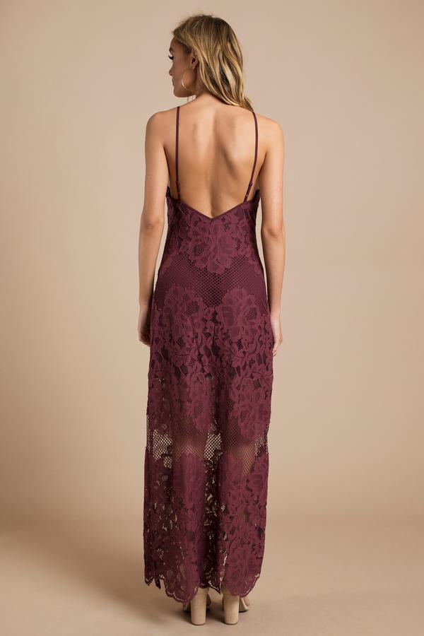 Black lace strap dress