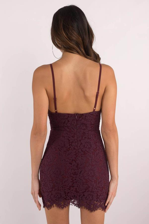 497370e63d Trendy Black Bodycon Dress - V Neck Lace Dress - Black Floral Lace ...