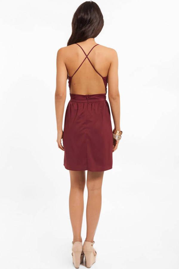 X Back Skater Dress