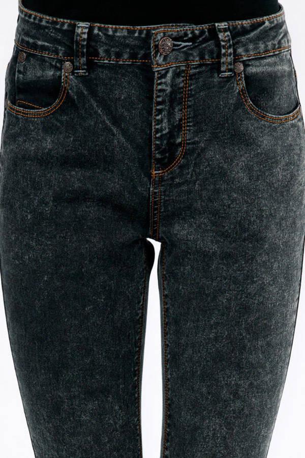 Acid Wash Cuffed Jeans