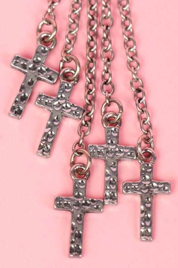 Hanging by a Cross Earrings