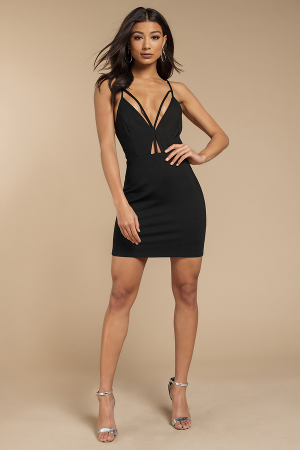 Black Bodycon Dress - Cut Out Dress - Sleeveless Black Dress - $64
