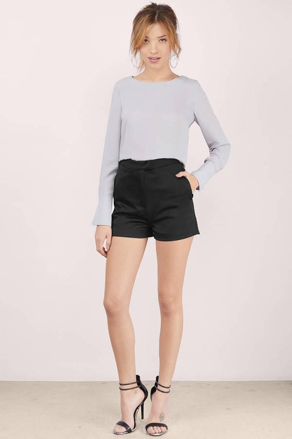 Allie Satin High Waisted Shorts - $22.00 | Tobi