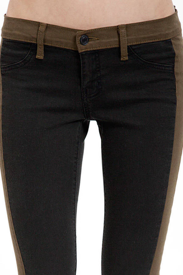 Loden Tuxedo Skinny Jeans