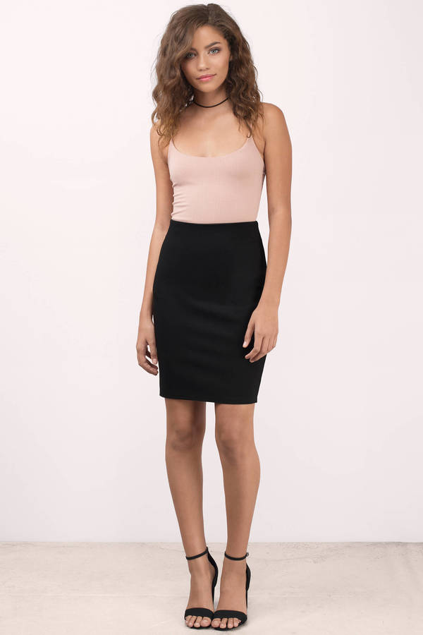 Black Skirt - Black Skirt - Pencil Skirt - $48.00