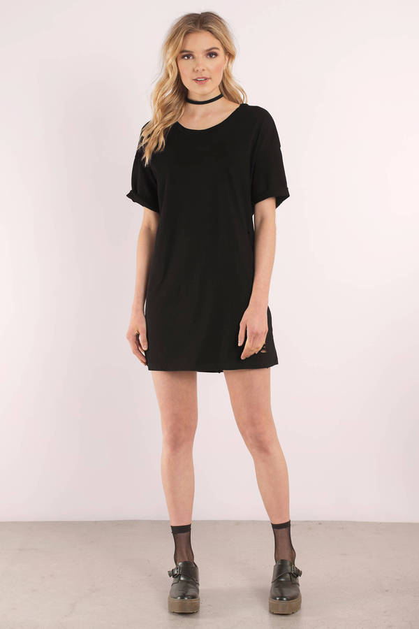 exceptional range of colors on feet images of latest releases Bay Area Distressed T-Shirt Dress