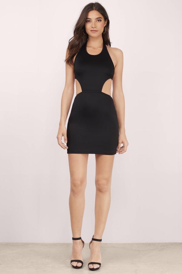 Cute Black Bodycon Dress Black Dress Scuba Dress