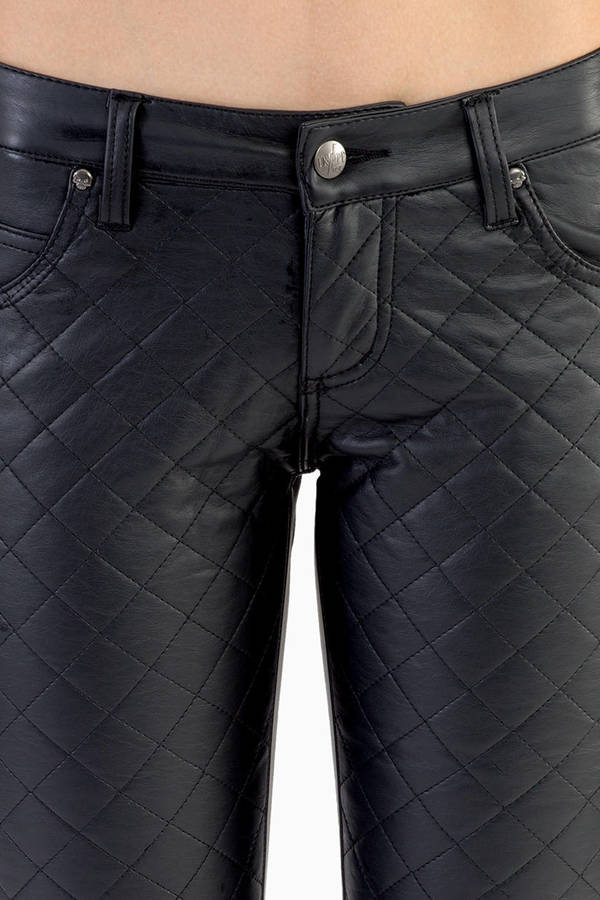 Tripp NYC Cali Faux Leather Quilted Pant