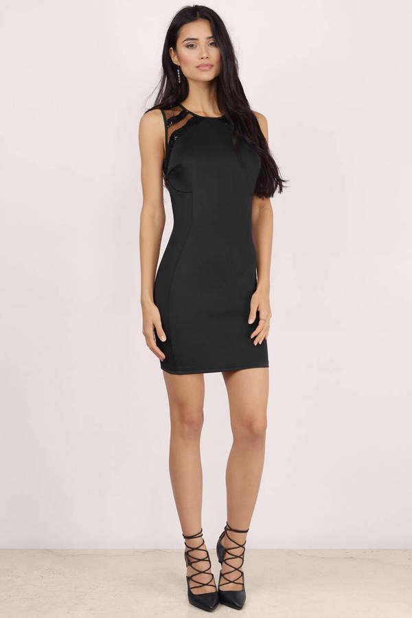 Cheap Black Bodycon Dress Black Dress Mesh Dress