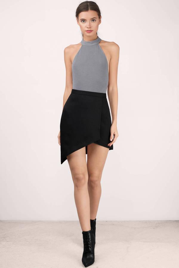 Cheap Black Skirt - Black Skirt - Wrap Skirt - $24.00