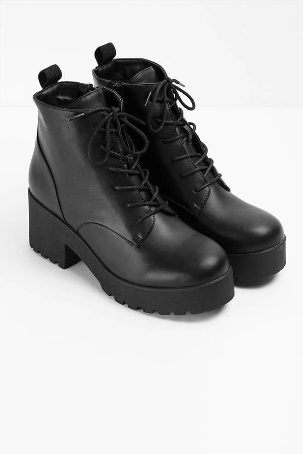 Black Boots Combat Boots Ankle Boots Black Shoes