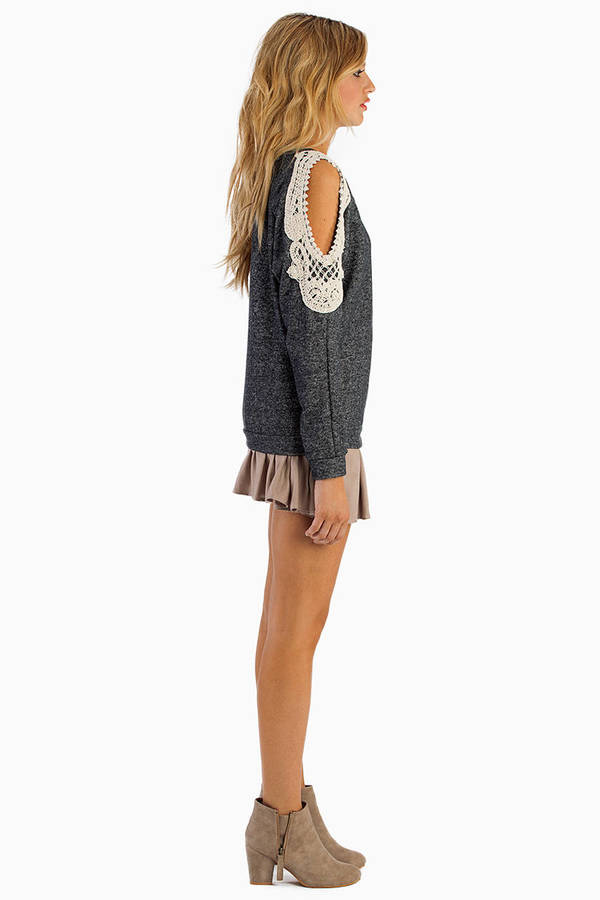 Crochet Open Shoulder Sweater