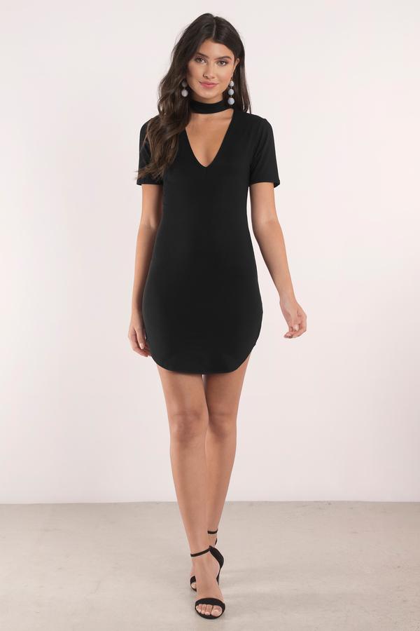 Crystal Black Choker Bodycon Dress