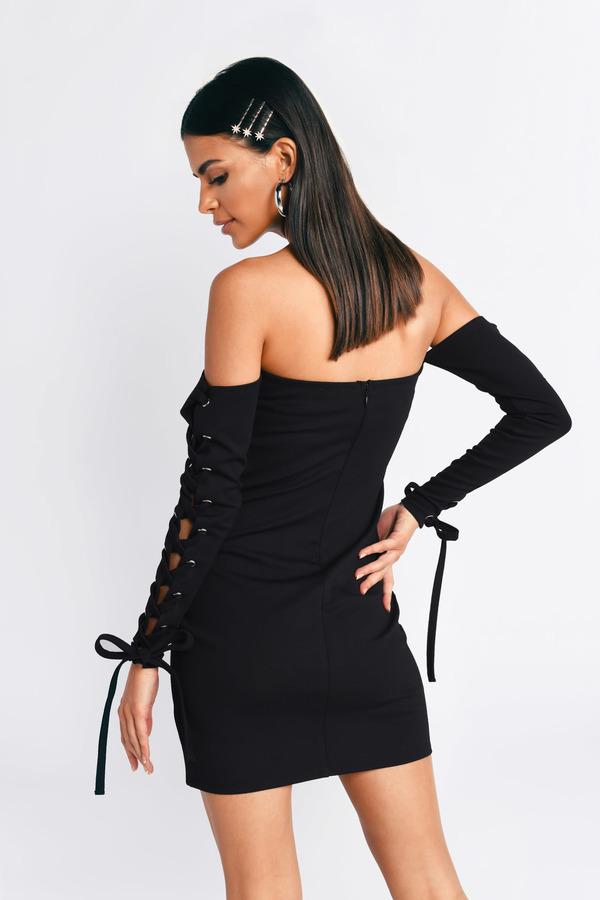 Black Bodycon Dress Slinky Black Dress Black Off