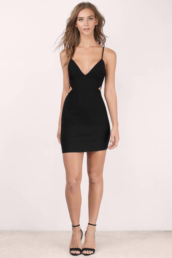 edd59552b19 Sexy Black Bodycon Dress - Cut Out Dress - Bodycon Dress -  17