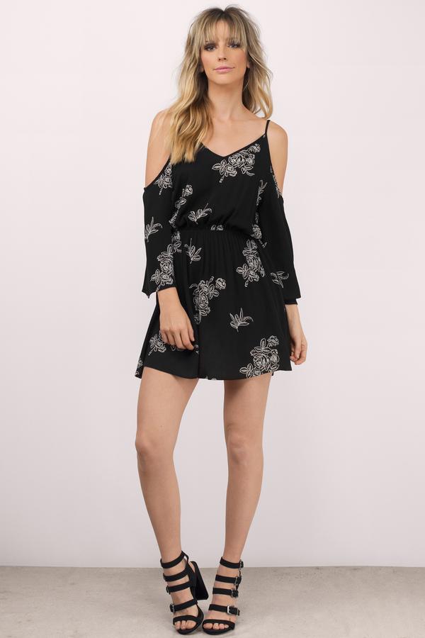 6d6ef8b17c1 Cute Black Shift Dress - Cold Shoulder Dress - € 72