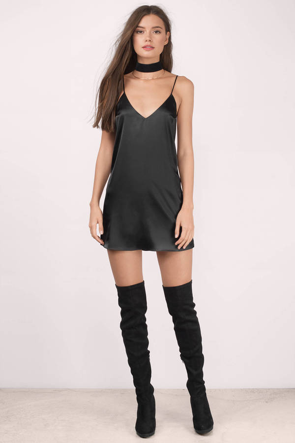 For You Rose Satin Shift Dress - $64.00 | Tobi