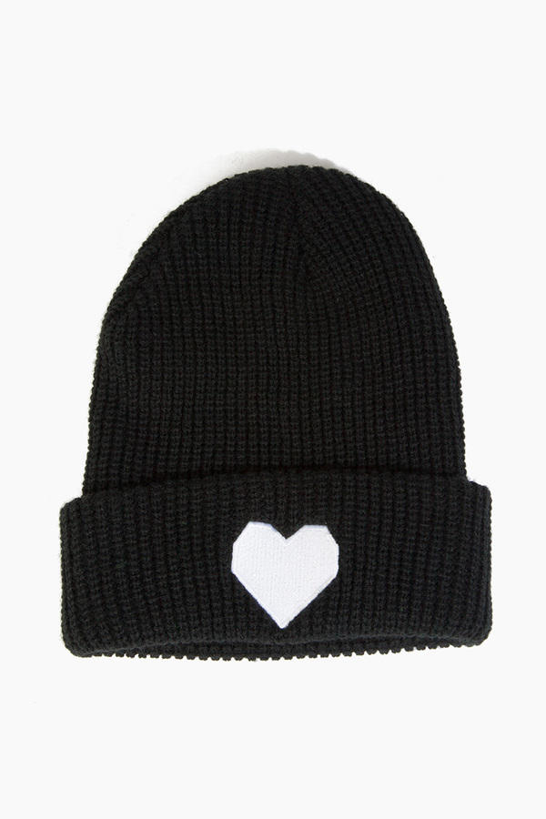 Love+Made Geo Heart Beanie