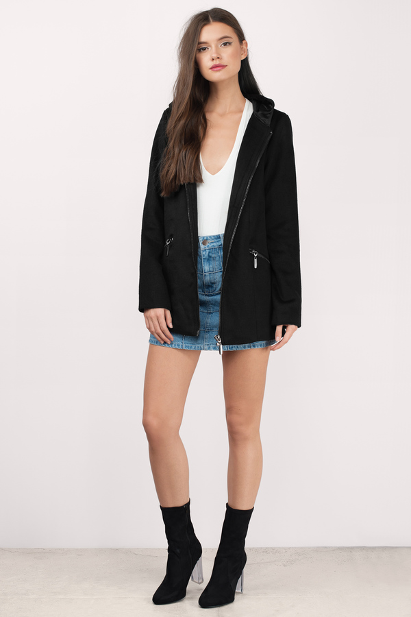 Cheap Black Coat - Black Coat - Wool Coat - $52.00