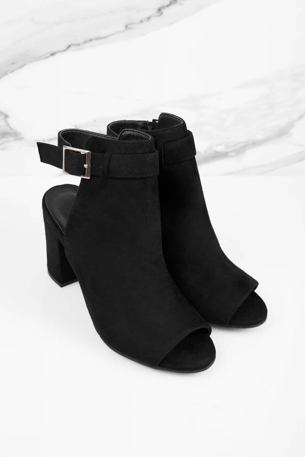 e82cd91ae8c Black Boots - Ankle Strap Boots - Suede Boots - Black Shoes - $64 ...