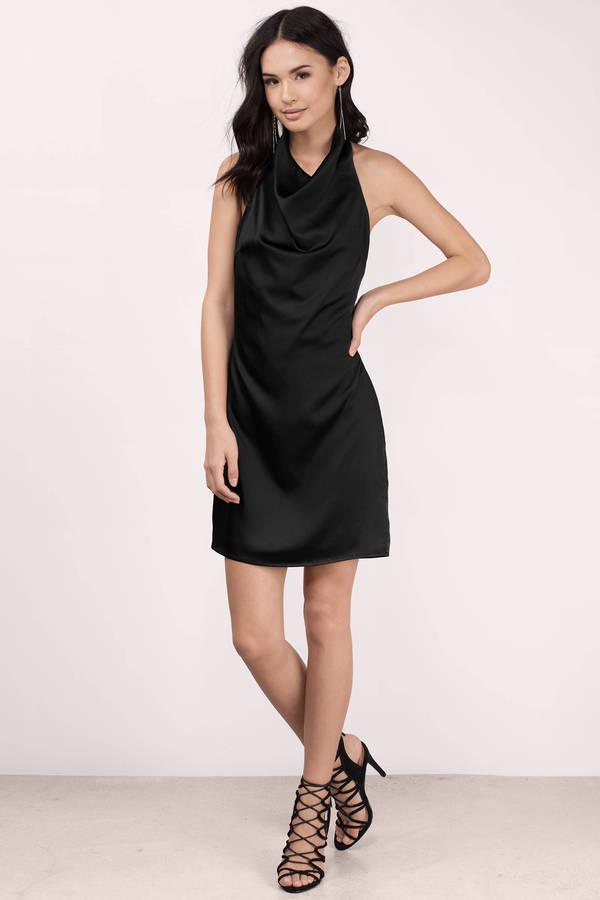 Trendy Black Bodycon Dress - Satin Dress - Bodycon Dress - $30 ...