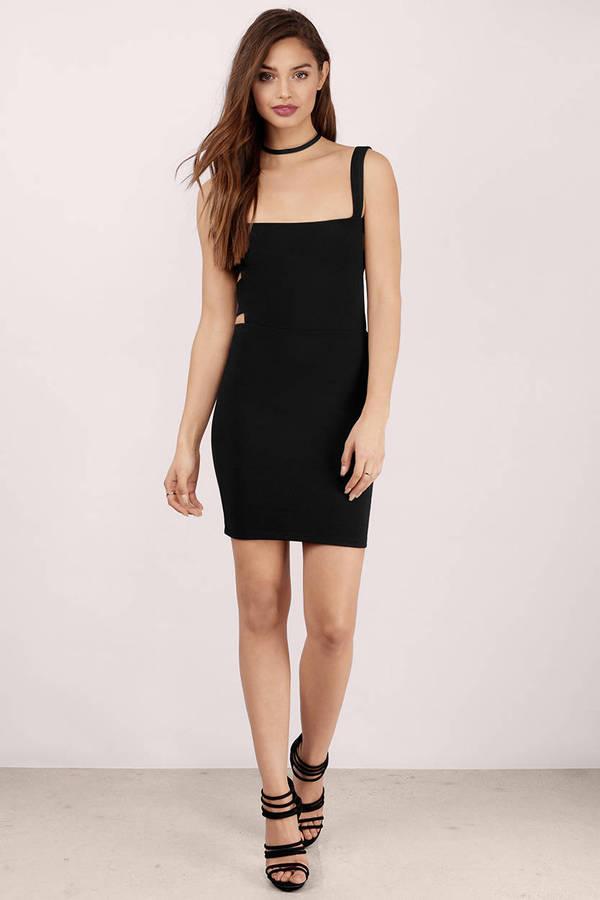 Black Bodycon Dress - Black Dress - Sleeveless Dress - $9.00