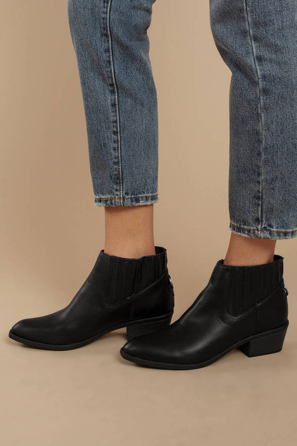 b5edf58be ... DV by Dolce Vita Dv By Dolce Vita Knock Black Faux Leather Chelsea  Booties