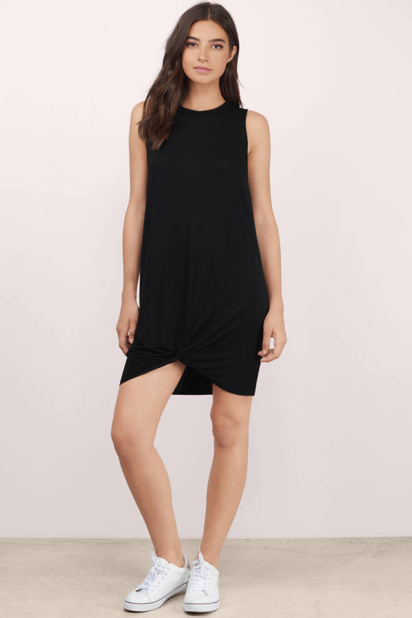 Black Shift Dress - Black Dress - Sleeveless Dress - Black Shift ...