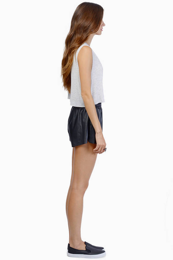 Leather Biker Shorts