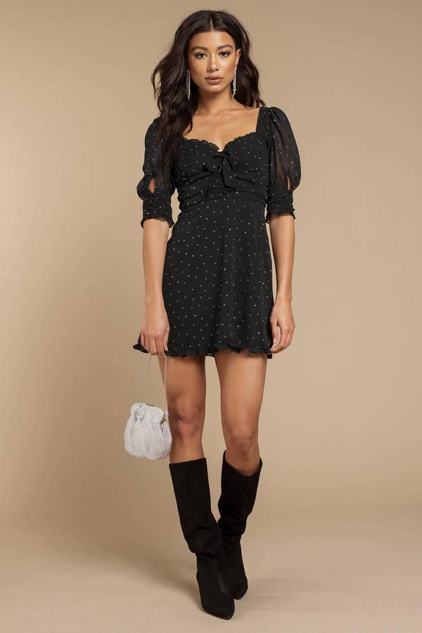 432bb5d7fce ... For Love and Lemons For Love And Lemons Lucky Dice Black Mini Dress