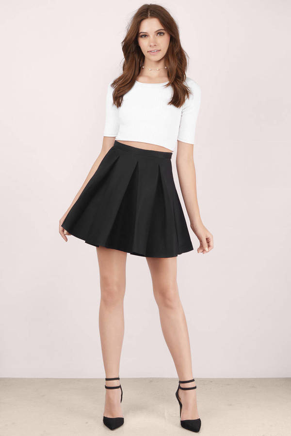 Cute Black Skirt - Black Skirt - Pleated Skirt - $15.00
