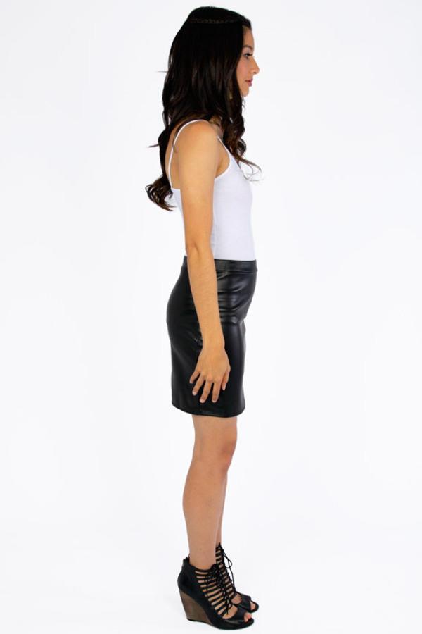 Off Limits Vegan Leather Skirt