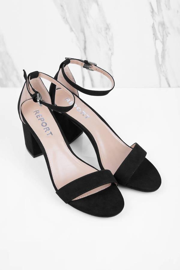 Pamela Black Ankle Strap Heels - $50.00 | Tobi