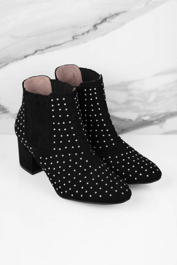 Black Booties Ankle Booties Studded Ankle Bootie 38