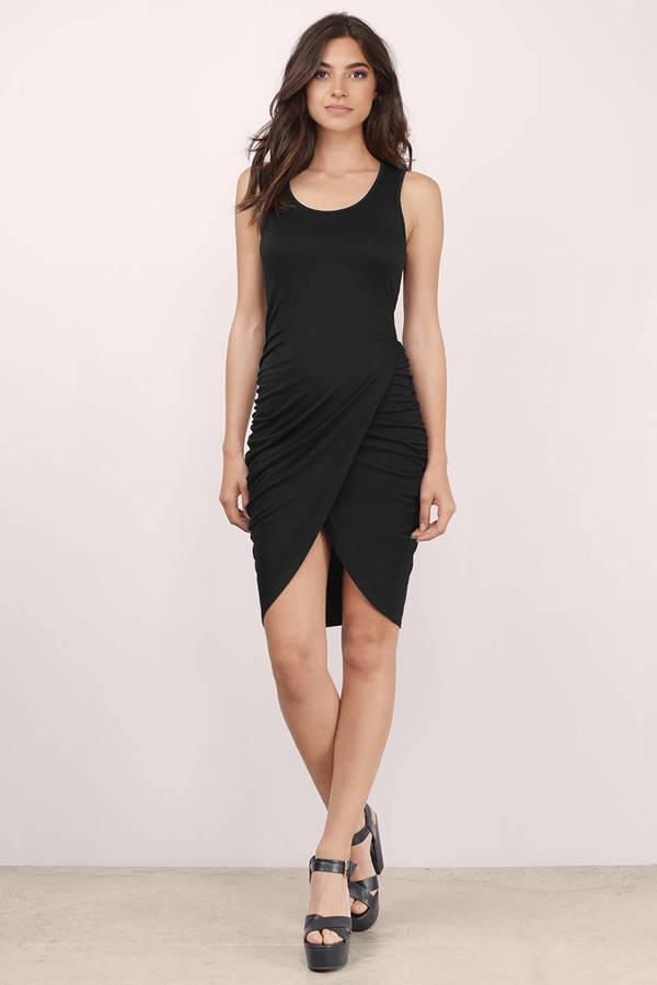 Cute Black Wrap Dress Wrap Dress Black Dress Midi