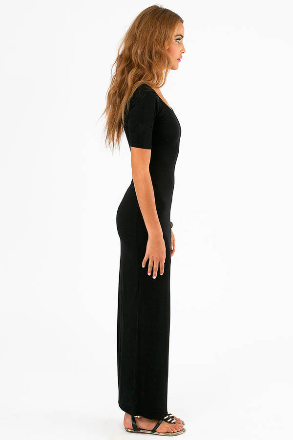 Slanted Window Maxi Dress