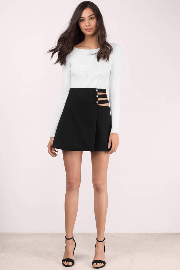Zara Shorts | Black Mini Skort Origami Short | Poshmark | 900x600