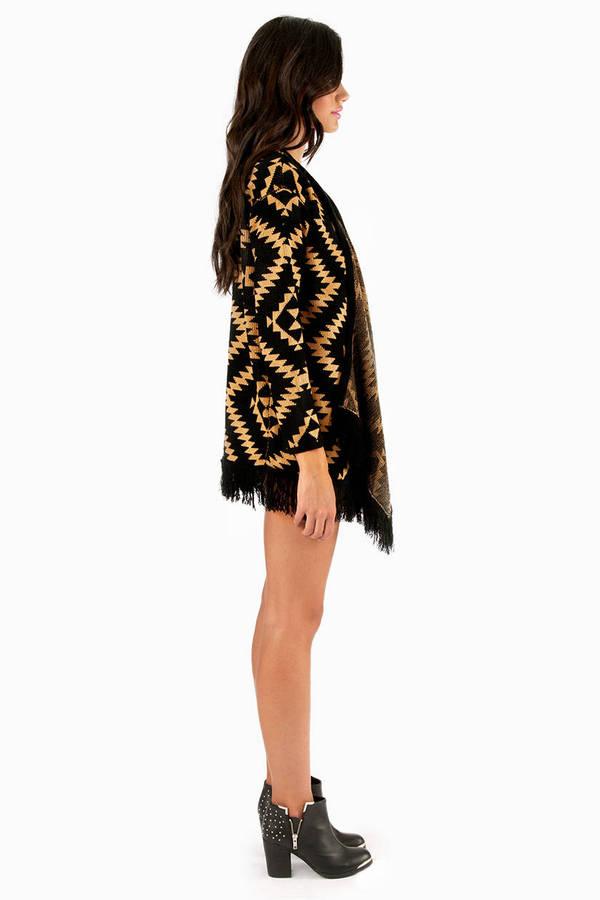 Fringe Aztec Cardigan