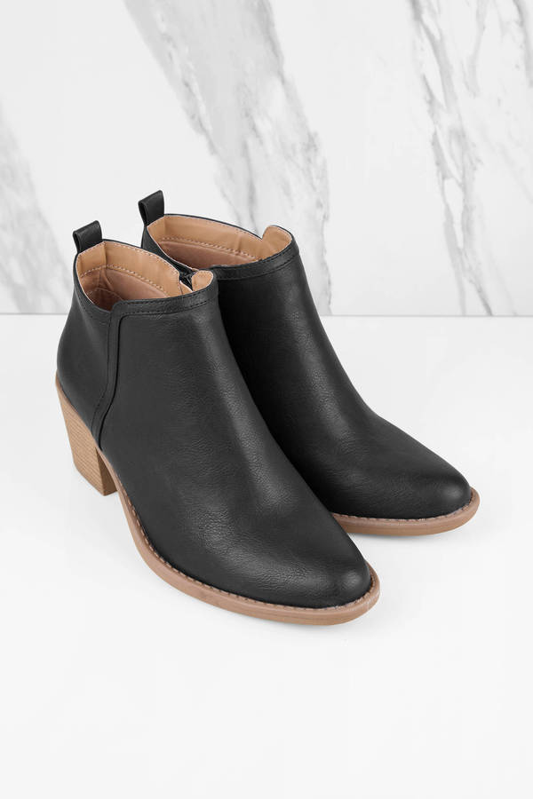 4cbe6ad0081 Stylish Black Boots - Summer Boots - Black Lightweight Boots -  28 ...