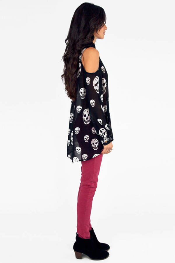 Too Cool for Skull Blouse