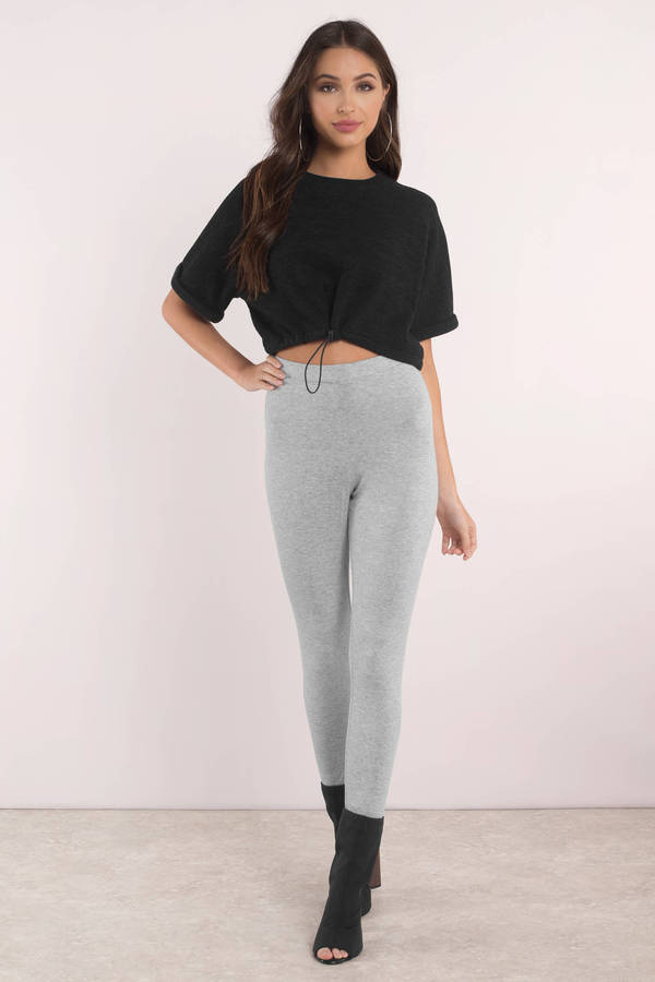 62d50759a4db Cute Black Top - Front Tie Top - Black Crop Top - C$ 70 | Tobi CA