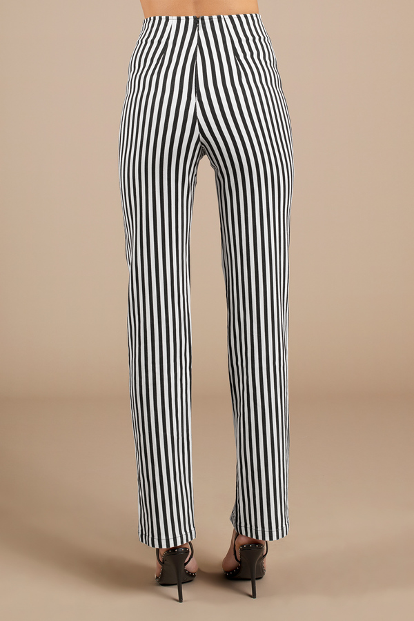 eae3f11eb Black Pants - Beetlejuice Pants - Black Striped Pants - Slit Pants ...