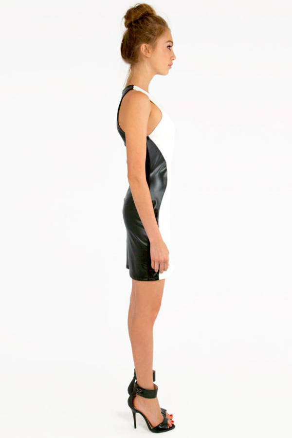 Racetrack Leather Dress