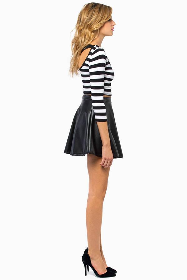 Stripe A Pose Crop Top