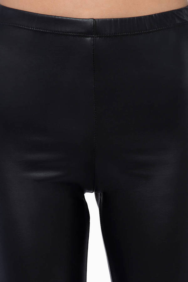 Zip Matted Leggings