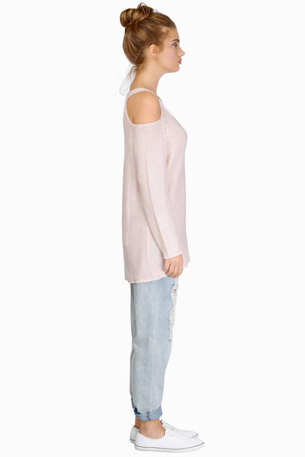 Cold Shoulder Oversized Sweater