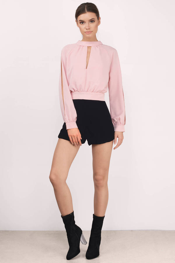004251d4989e3 Blush Blouse - Pink Blouse - Boat Neck Blouse - Blush Top - € 11 ...
