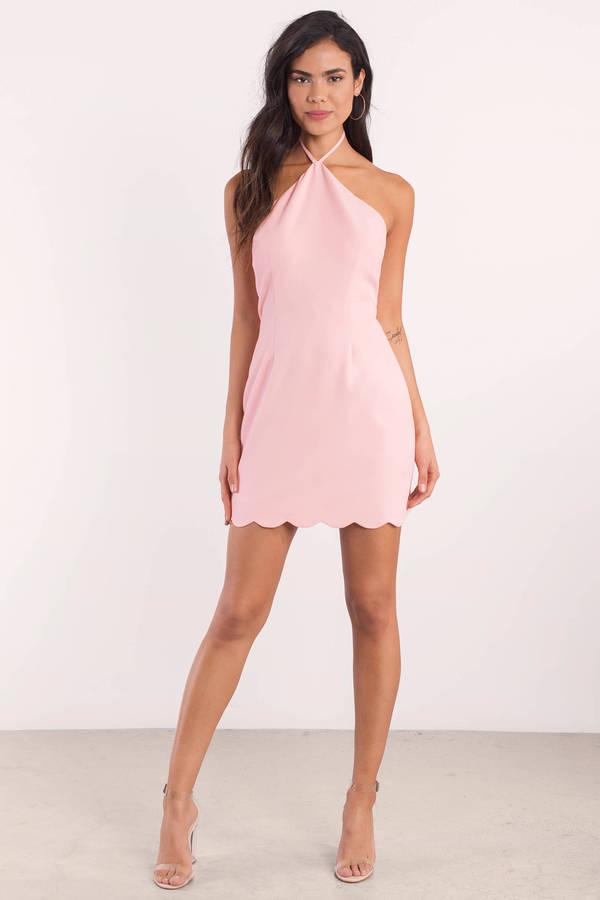 f4597e08f11b Cute Blush Bodycon Dress - Backless Dress - Bodycon Dress - C  25 ...