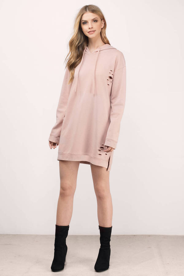 e307108fe25c Trendy Blush Day Dress - Distressed Dress - Day Dress - $31 | Tobi US