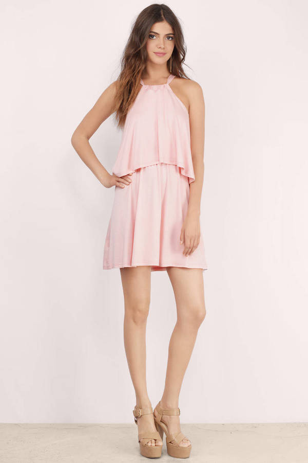Cute Blush Day Dress Pink Dress Sleeveless Dress Day Dress 10 Tobi Us